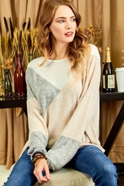 Cezanne Color-Block Lightweight Sweater - Front cropped