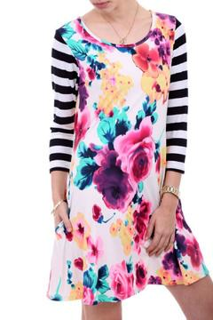 Shoptiques Product: Floral Stripe Dress