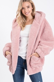 Cezanne Hooded Sherpa Jacket - Product Mini Image