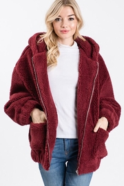 Cezanne Hooded Sherpa Jacket - Front cropped