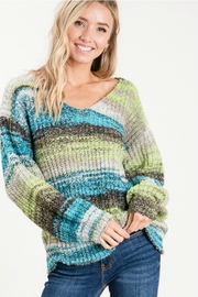 Cezanne Multi-Color Lightweight Sweater - Front cropped