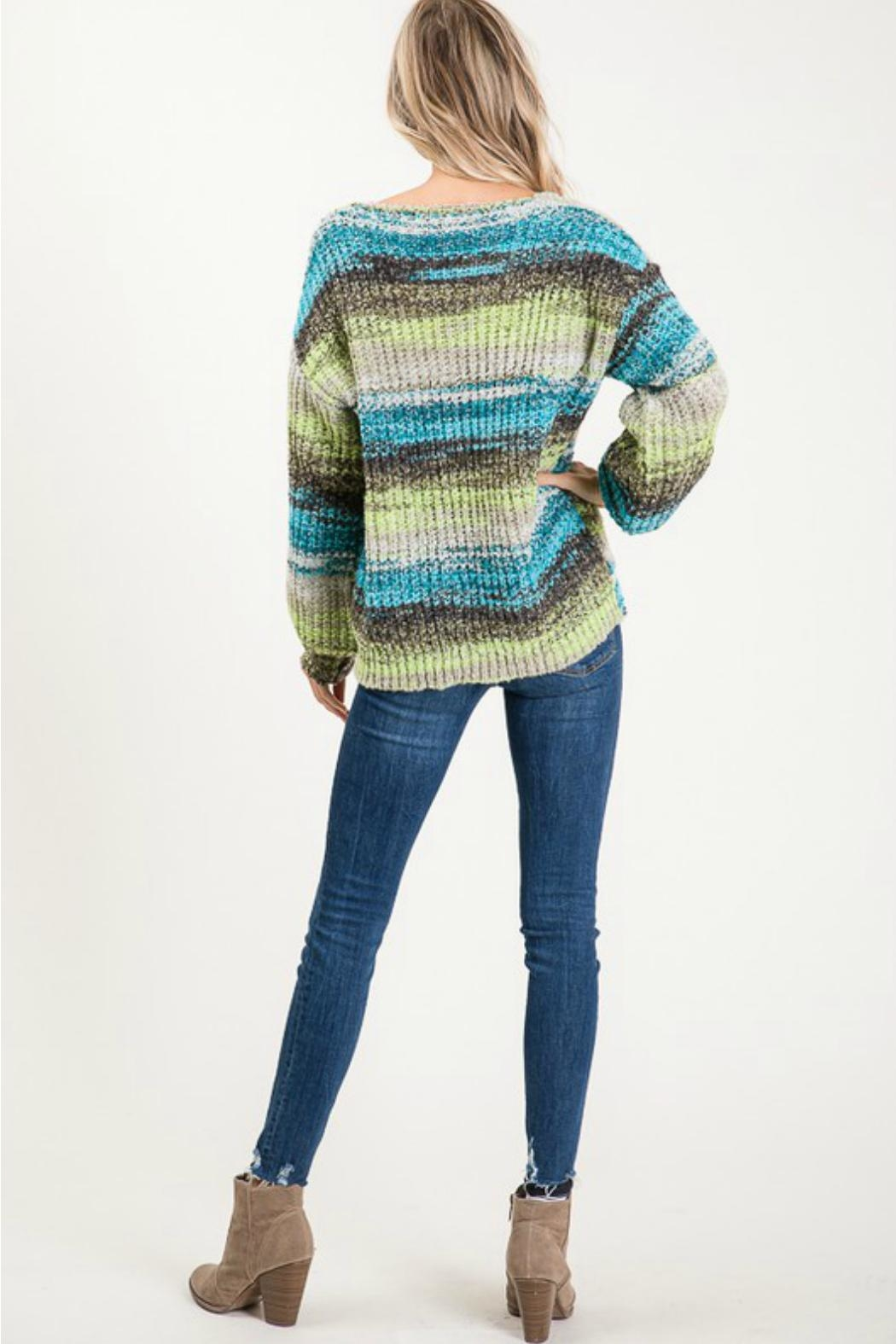 Cezanne Multi-Color Lightweight Sweater - Front Full Image