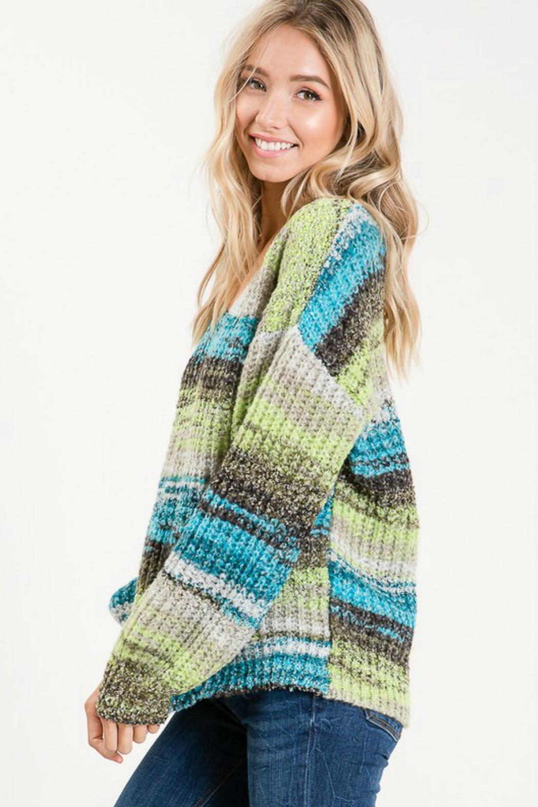 Cezanne Multi-Color Lightweight Sweater - Side Cropped Image