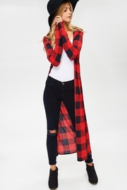 Cezanne Buffalo Plaid Duster - Product Mini Image