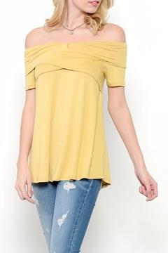 Shoptiques Product: Comfy Off-Shoulder Tee