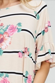 Cezanne Ruffle Floral Top - Back cropped