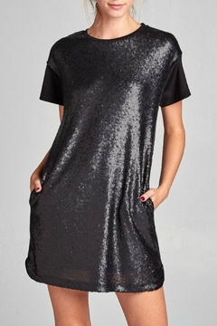 Cezanne Sequin Short Dress - Product List Image