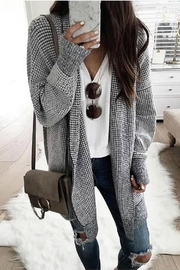 Cezanne Sweater Knit Cardi - Front cropped