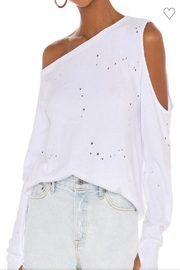 Cezele Burnout Casual Top - Front cropped