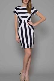 Esley Navy Striped Dress - Product Mini Image