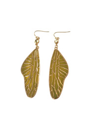 Langford Market Gold Wing Earrings - Front cropped