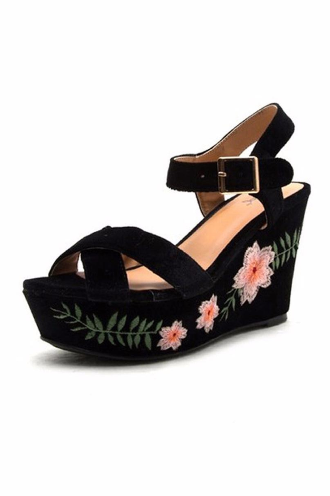 5fd9f8b86afd8d CG Shoes Floral Wedge Sandal from New York by Jamie and Maxi ...