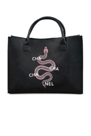 Los Angeles Trading Co.  Cha Cha Cha Nel Modern Vegan Tote - Front cropped
