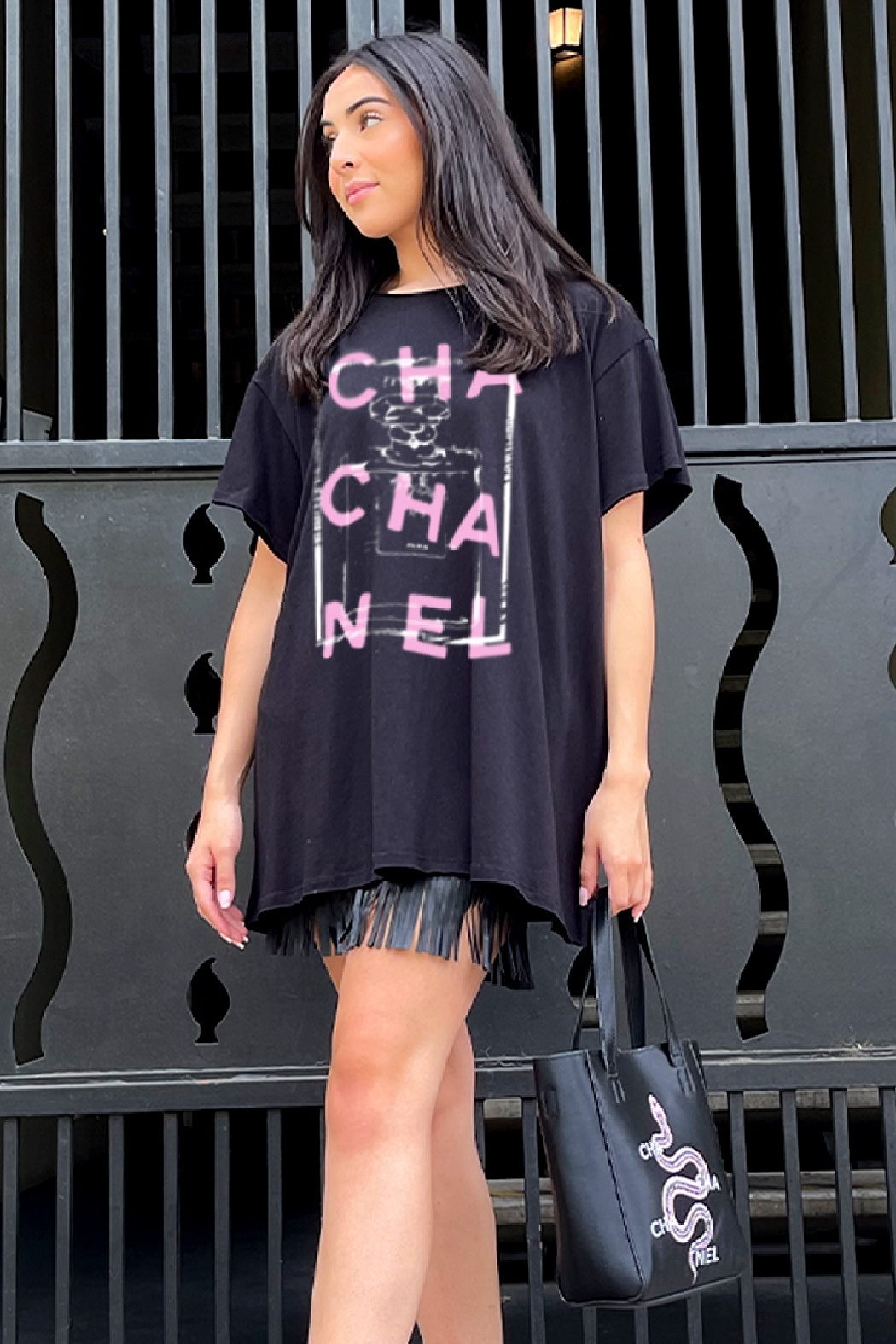 LA Trading Co Cha Cha Nel Graphic Tee - Front Cropped Image