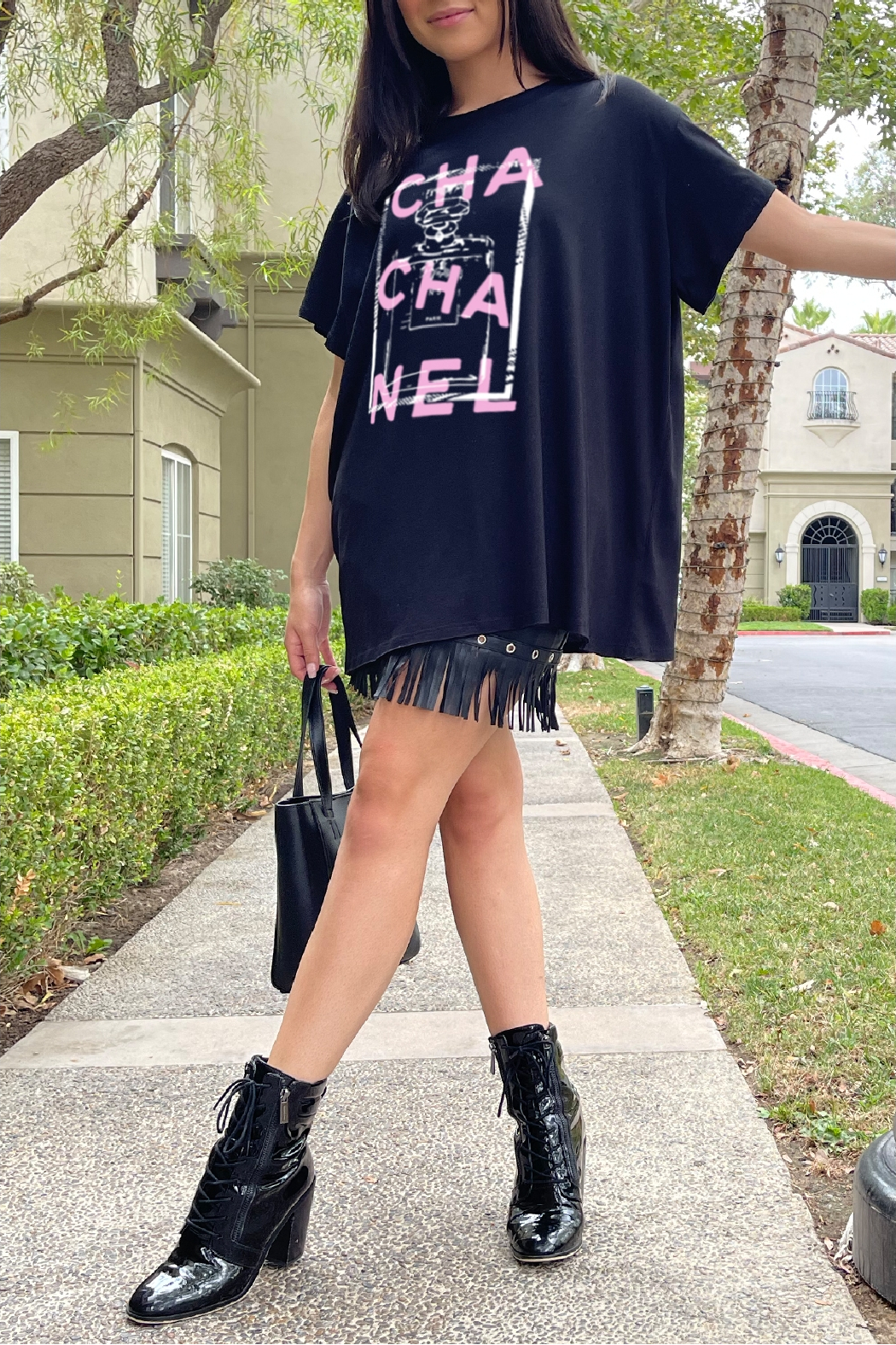 LA Trading Co Cha Cha Nel Graphic Tee - Side Cropped Image
