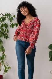 Chai Adalee Crop Blouse - Product Mini Image