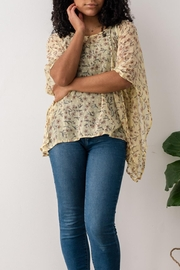 Chai Sheer Flowing Blouse - Product Mini Image