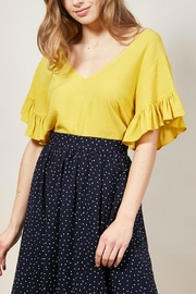 FRNCH Chaima Top - Mustard - Product Mini Image