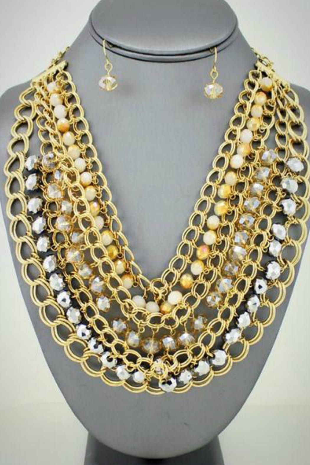 Embellish Chain Bead Necklace - Main Image