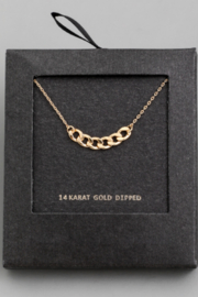 Secret Box Chain Charm Necklace - Front cropped
