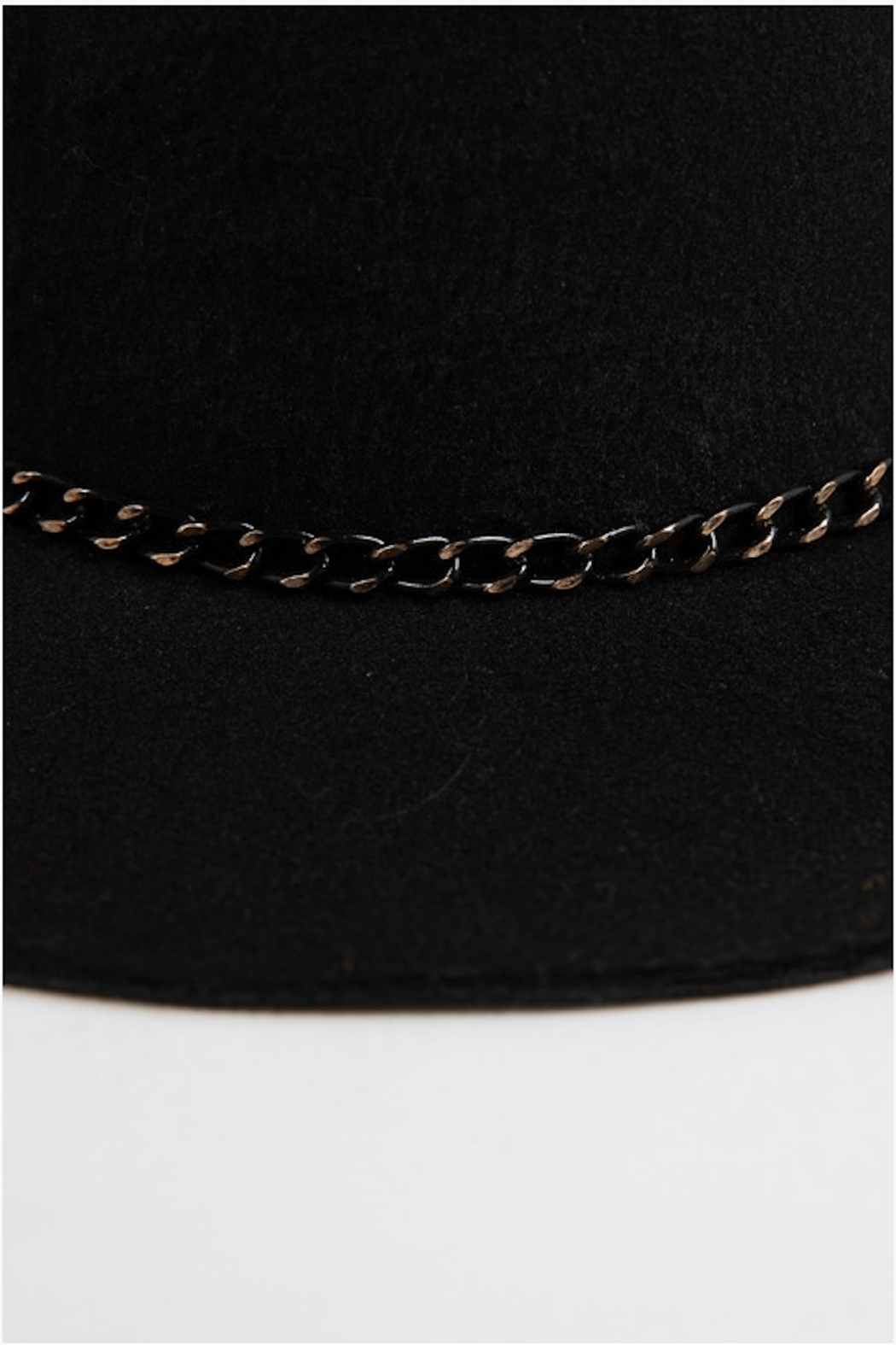 Fashionomics Chain Detail Fedora - Side Cropped Image
