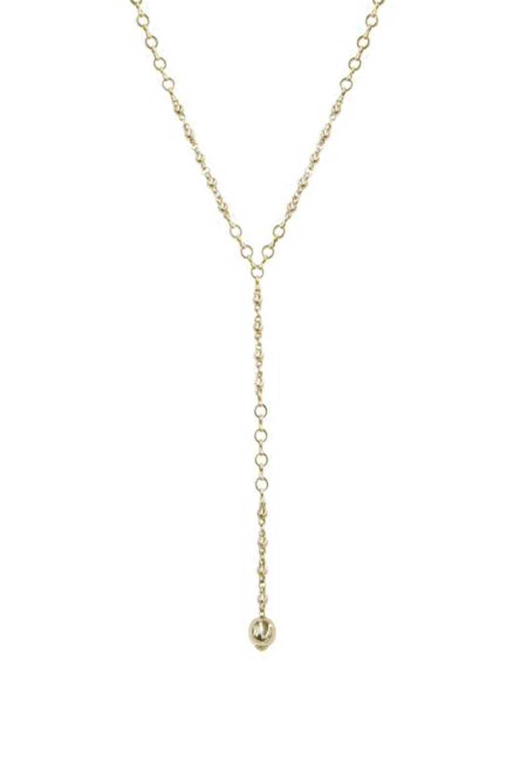 Ettika Chain-Link Lariat Necklace - Front Full Image