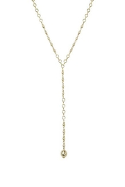 Ettika Chain-Link Lariat Necklace - Front full body