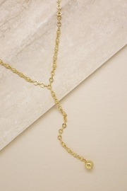 Ettika Chain-Link Lariat Necklace - Front cropped