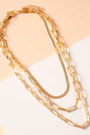 avenue zoe  Chain Link Layered Necklace - Product Mini Image