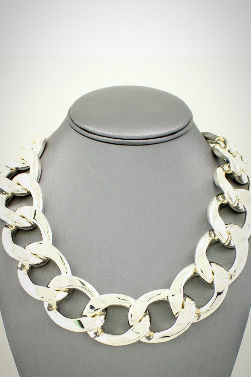 Embellish Chain Link Necklace - Front Cropped Image