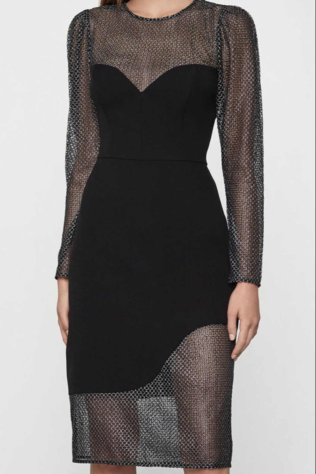 BCBG MAXAZRIA Chain Mail Dress - Front Cropped Image