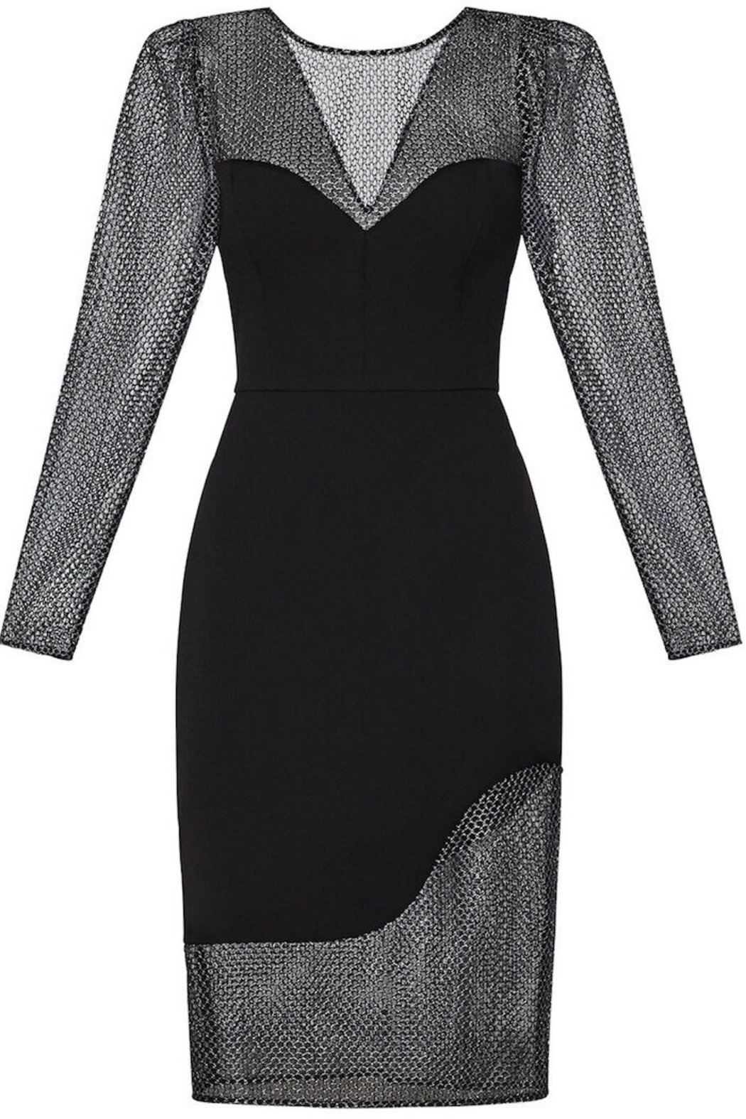 BCBG MAXAZRIA Chain Mail Dress - Side Cropped Image