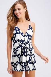luxxel Chain Print Romper - Front cropped