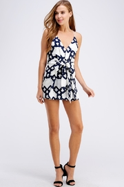 luxxel Chain Print Romper - Front full body