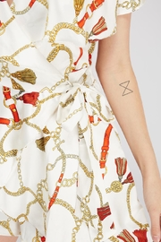 Do & Be Chain Print Romper - Back cropped
