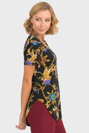 Joseph Ribkoff Chain Print Tunic - Front full body