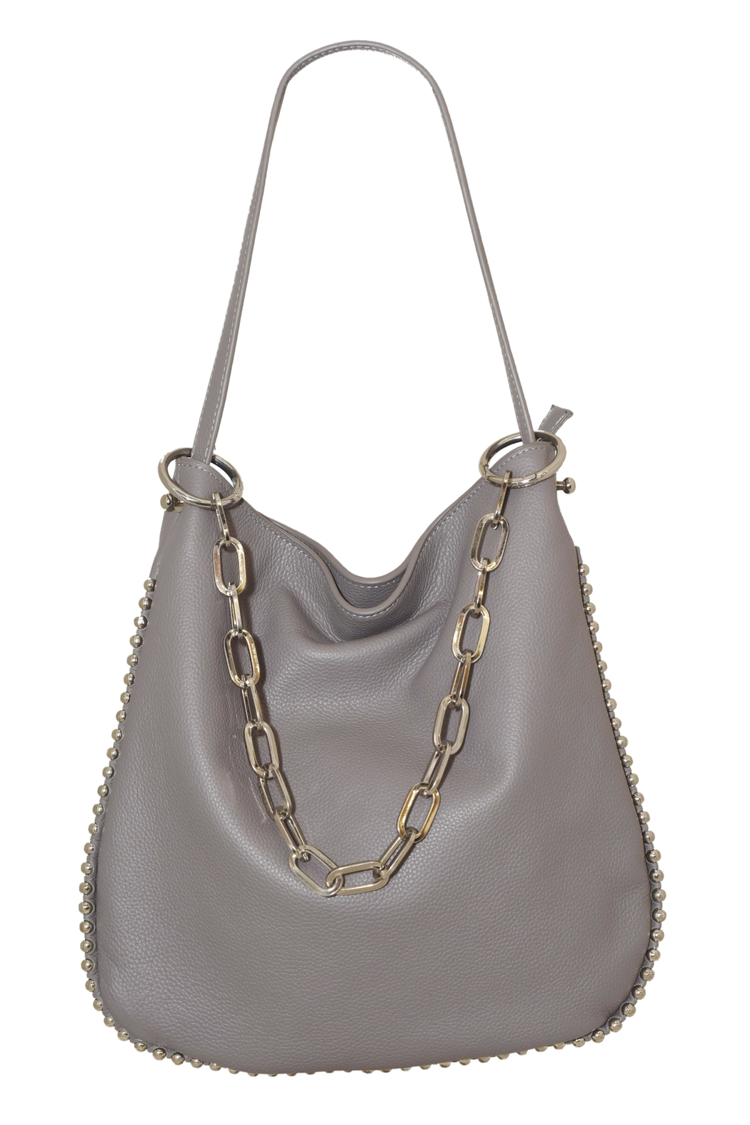 INZI Chain Shoulder Bag - Front Cropped Image