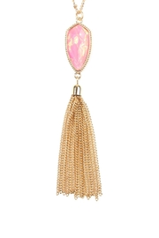 Riah Fashion Chain-Tassel-Necklace And Stud-Earrings-Set - Front full body