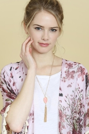 Riah Fashion Chain-Tassel-Necklace And Stud-Earrings-Set - Side cropped