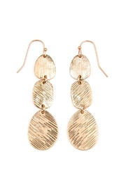 Riah Fashion Chained-Cast Dangle Earrings - Front cropped