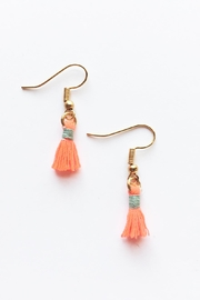 Chains by Lauren Mini Tassel Earrings - Product Mini Image