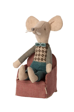 Maileg Chair Mouse Red PREORDER - Alternate List Image