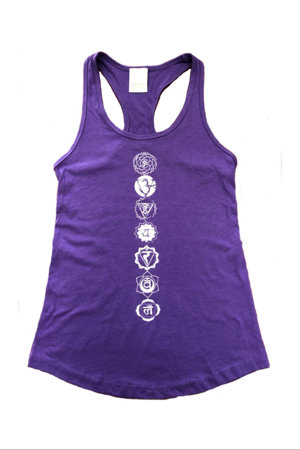 Ancient Language Chakra Tank - Front Cropped Image