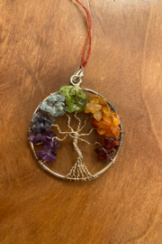 tesoro  Chakra Wire Wrapped Tree of Life Pendant - Product Mini Image
