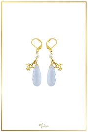 Malia Jewelry Chalcedony Hummingbird Earrings - Front cropped