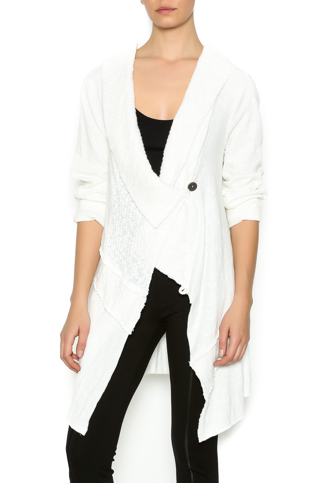 Chalet Asymmetric Winter White Sweater from Minnesota by Dot ...