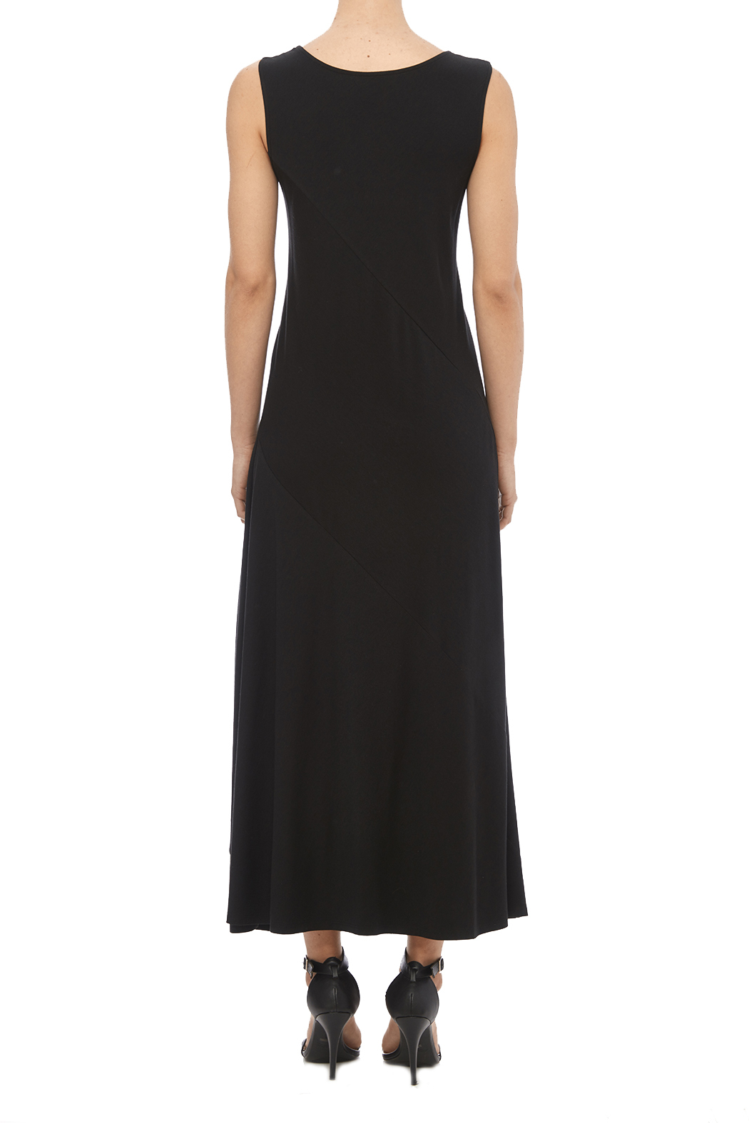Chalet Black Tank Dress - Back Cropped Image