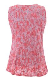 Chalet Coral Burnout Top - Front full body