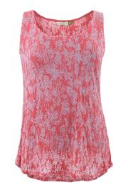 Chalet Coral Burnout Top - Product Mini Image