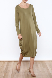 Chalet Khaki Comfy Dress - Product Mini Image